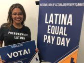Cristela Alonzo on Latina Equal Pay DAy. Photo from her Facebook Page