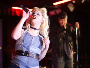 Photo credit: Romantic Photographic from Hedwig and the Angry Inch first run at Cabaret Mado in November. Andrew Morrisey as Hedwig and Noelle Hannibal as Yitzhak
