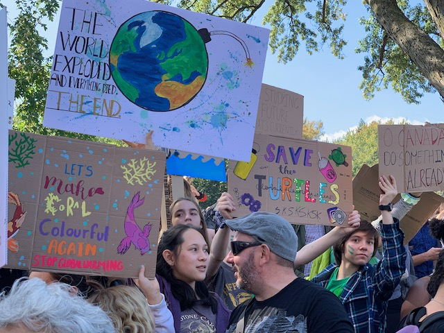 Climate Strike Poster. Photo Rachel Levine