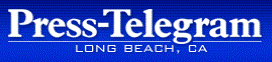 Long Beach Press Telegram Logo on Vonda Pelto's website.