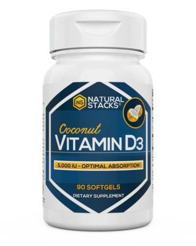 Natural Stacks Vitamin D3 Bottle Front