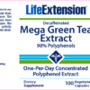 Life Extension Green Tea Extract Decaf Label