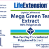 Life Extension Green Tea Extract Label
