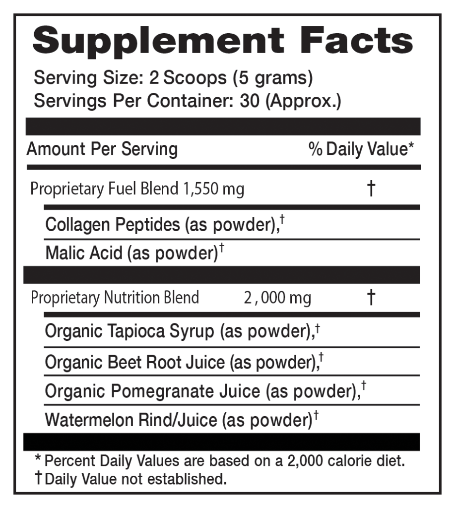 War Fuel Supplement Facts
