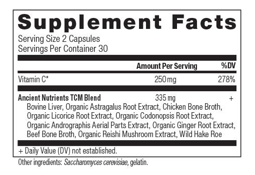 Ancient Nutrition Vitamin C Supp Facts