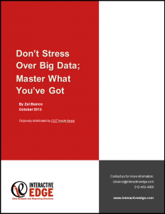 Dont Stress Over Big Data