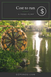 Cost to run a pond pump