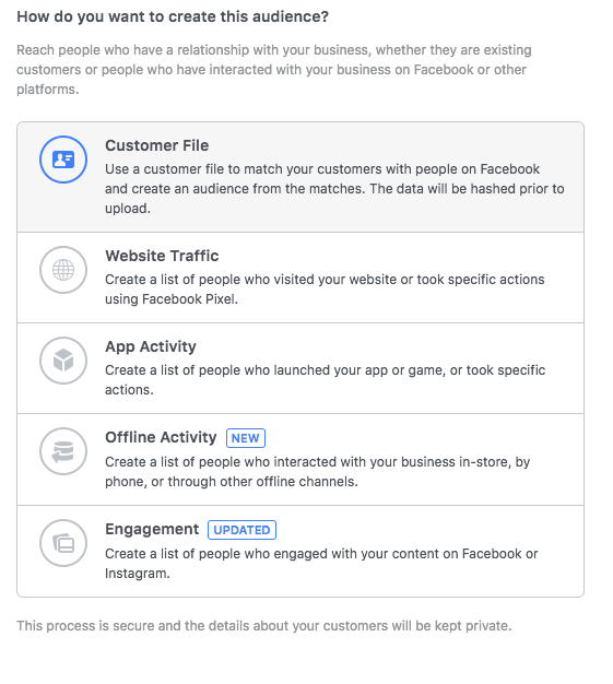 facebook custom targeting