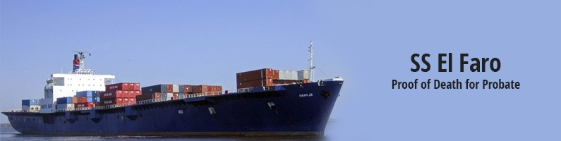 The El Faro and Proof of Death for Probate