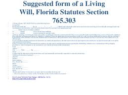 Living Will Form >> Free Florida Living Will Jacksonville Estate Planning Attorneys