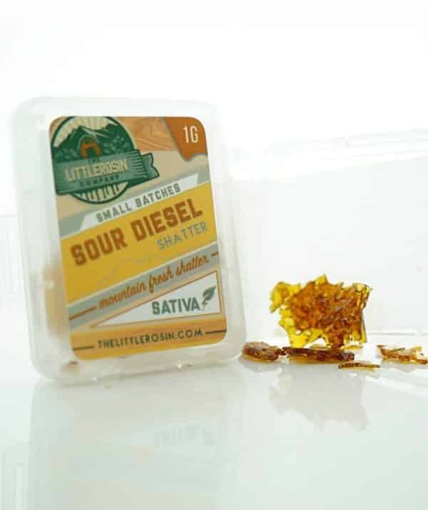 the little rosin company sour diesel shatter