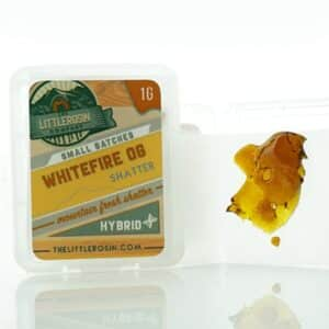 the little rosin company white fire og shatter