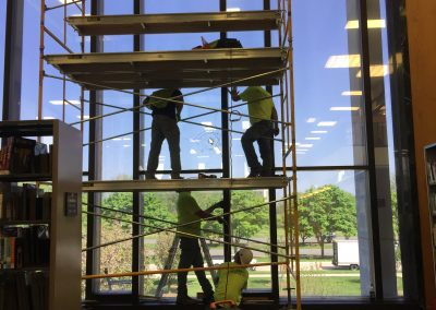 Glass Replacement - Dearborn Library 1 Before