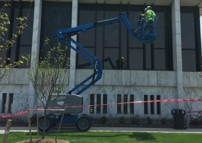 Glass Replacement - Dearborn Library 2 Before