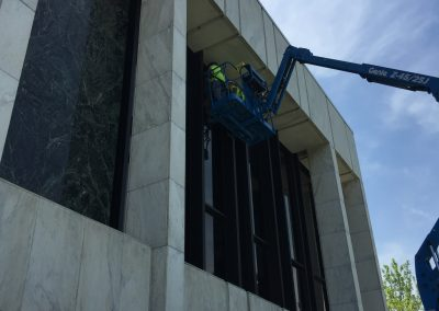 Glass Replacement - Dearborn Library 3 Before