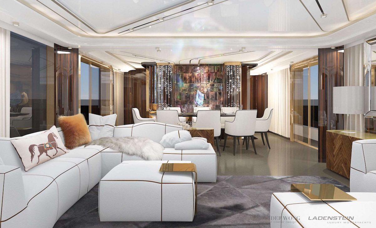 Alexander Wong interior design ladenstein yacht saloon white