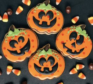 Silly Jack o' Lantern cookies