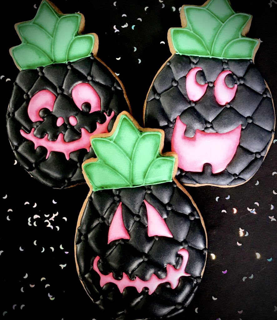 Tropical Halloween Cookies
