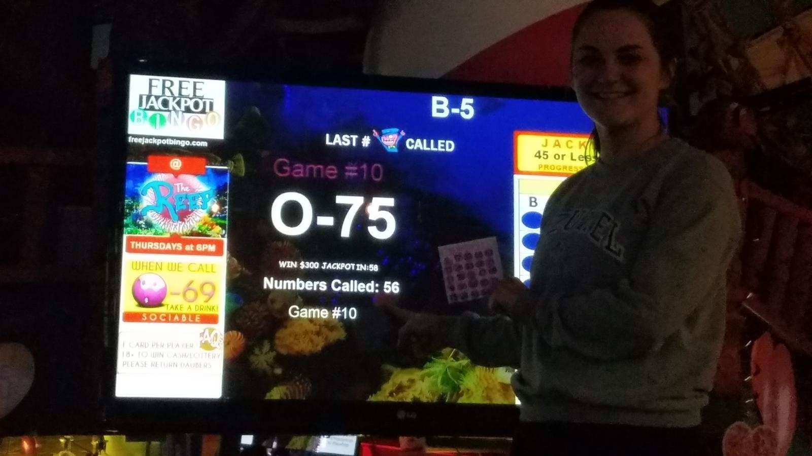 $300 Jackpot Winner at The Reef in Wisconsin Dells on 2-6-20