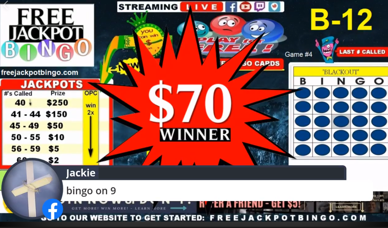 Father's Day Online Live 5 Game Bingo Special Event – 9PM CDT