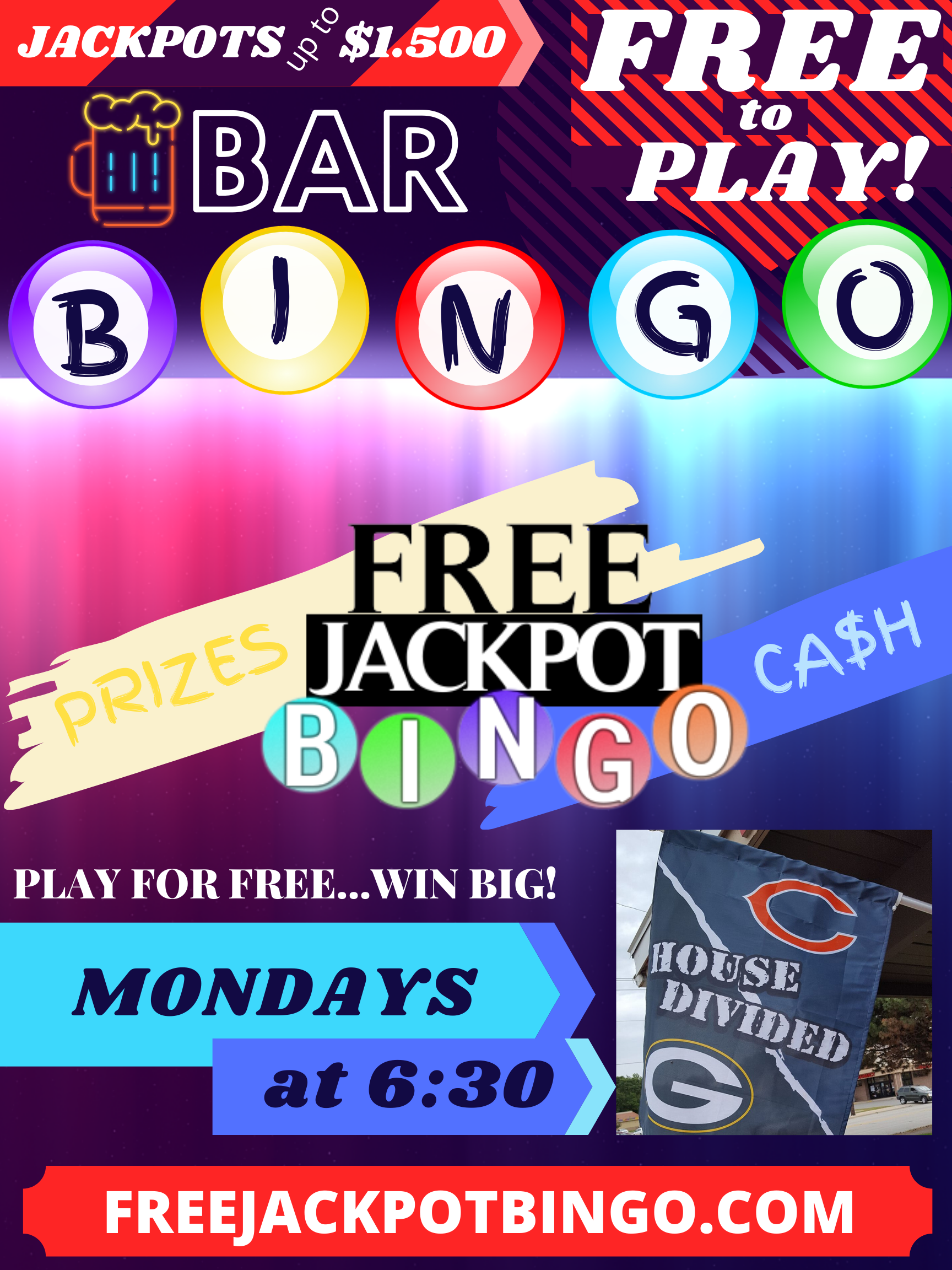 Online Live Bingo – Play from Anywhere – Wednesday at 1pm cdt