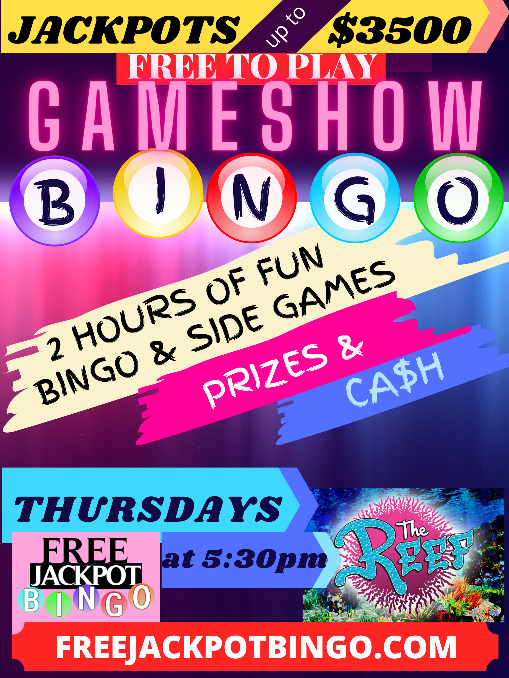 Wednesday Free To Play Bar Bingo at Ditters 40 West – 7PM CDT