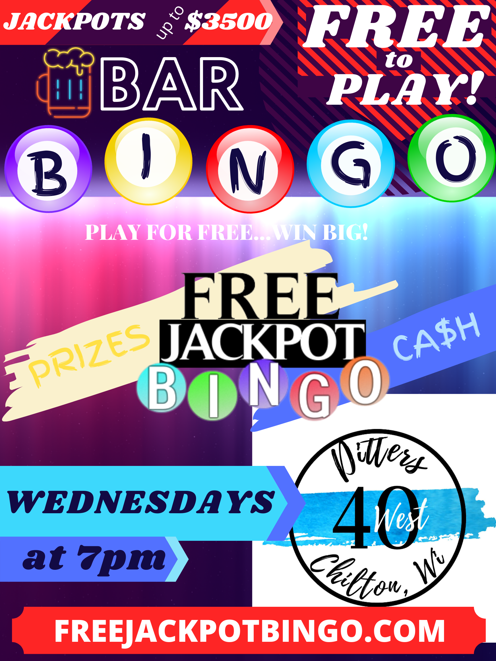 THURSDAY Free To Play Gameshow Bingo at The Reef – 5:30PM CDT