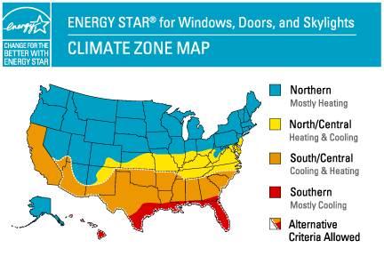 Energy Diagram for Windows, Doors & Skylights