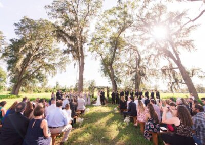 One of five ceremony sites at C Bar Ranch. Image by AmberDornPhotography.com