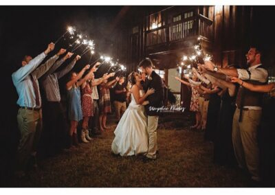 One of many locations suitable for a beautiful sparkler send-off. Image by Umphie Photos.