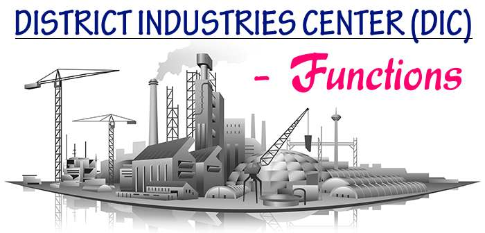 District Industries Center - Functions