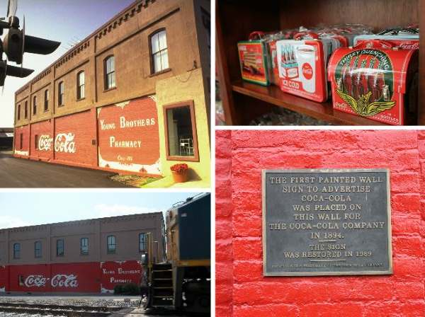 First outdoor painted-wall advertisement for Coca-Cola