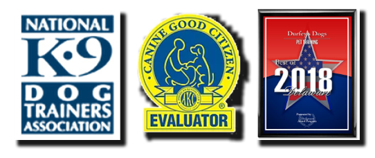 National K-9 Dog Trainer and AKC Canine Good Citizen logo