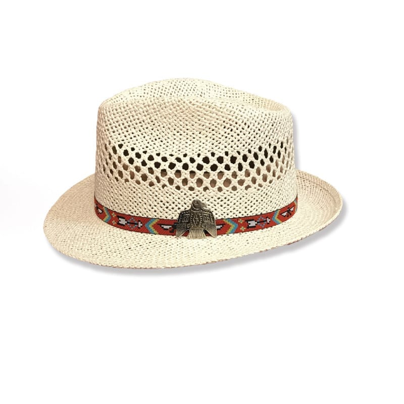 Ladies Fashion Hats - Western Wear - Womens Fedora - Savannah White Tribal