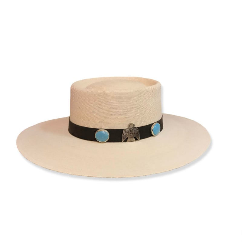 Ladies Western Wear - Fashion Hats - Nevada Thunderbird with Turquoise conchos