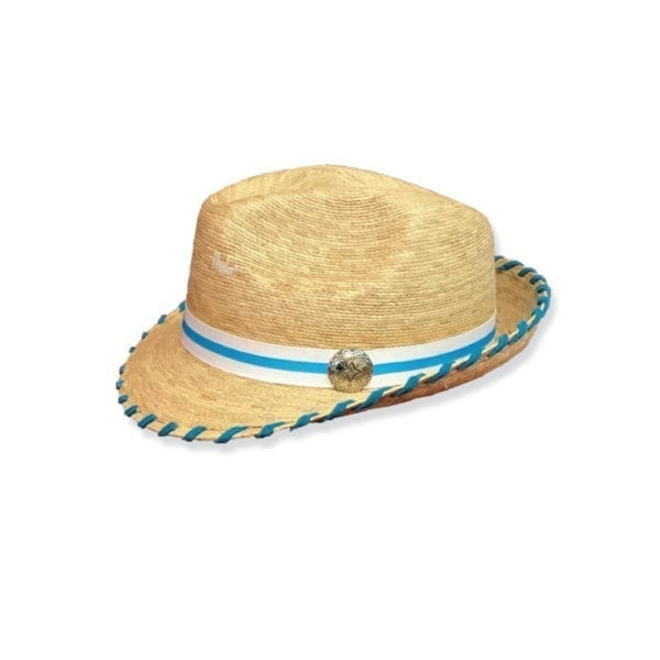Ladies Western Wear - Ladies Fedora - Kelsey Turquoise Laced