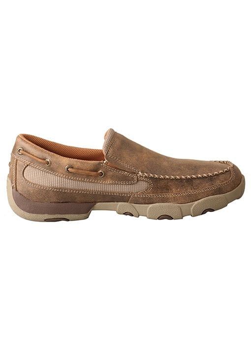 Twisted X Men's Driving Moc Slip On - Bomber - MDMS002 - Right