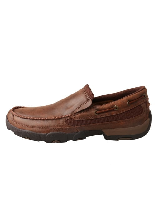 Twisted X Men's Driving Moc Slip On - Brown - MDMS009 - Left