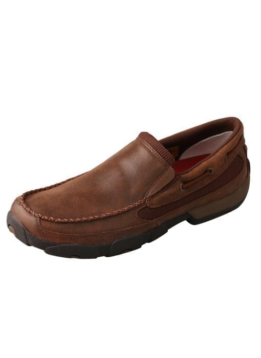Twisted X Men's Driving Moc Slip On - Brown - MDMS009 - Side