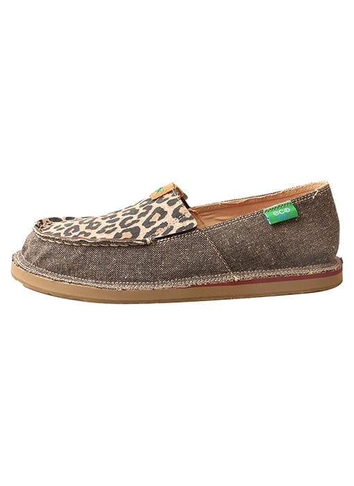 Twisted X Women's Driving Moc Loafer - Dust-leaopard - WCL0001 - Left