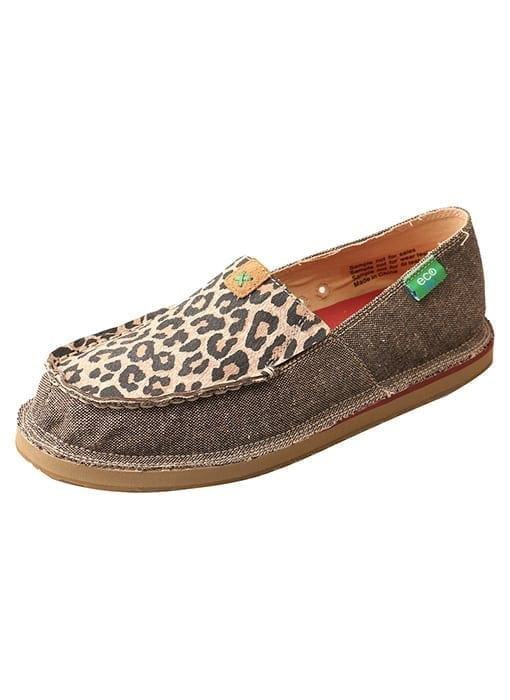 Twisted X Women's Driving Moc Loafer - Dust-leaopard - WCL0001 - Side