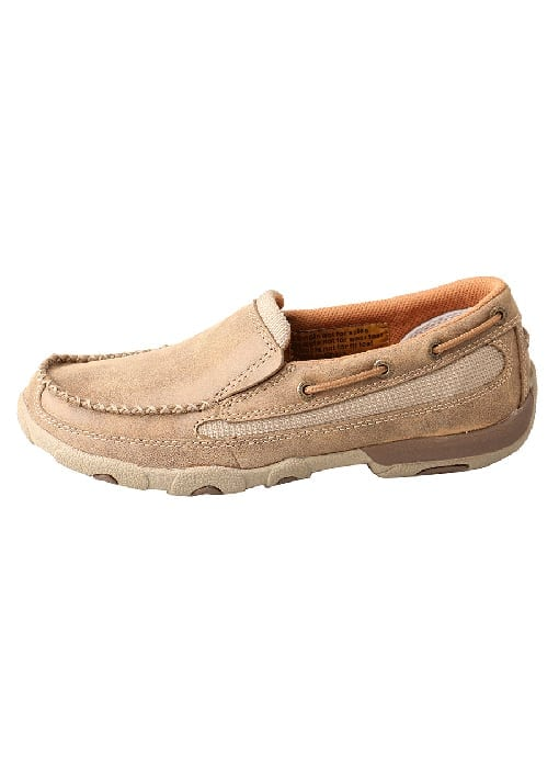 Twisted X Women's Driving Moc Slip On - Bomber - WDMS005 - Left