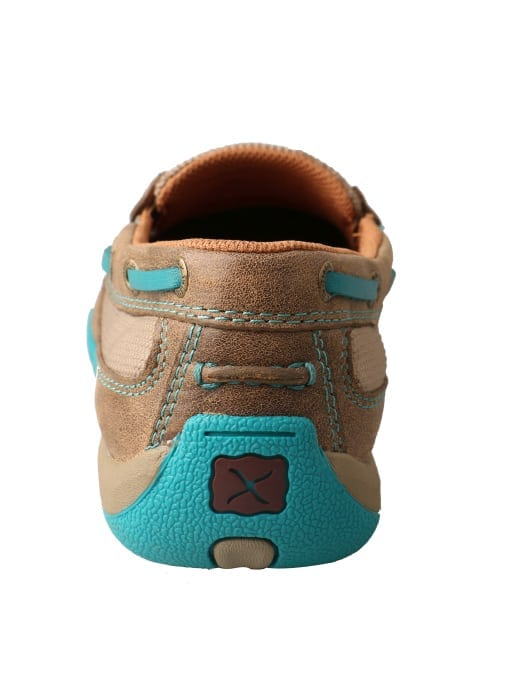 Twisted X Women's Driving Moc Slip On - Bomber-turquoise - WDMS006 - Back