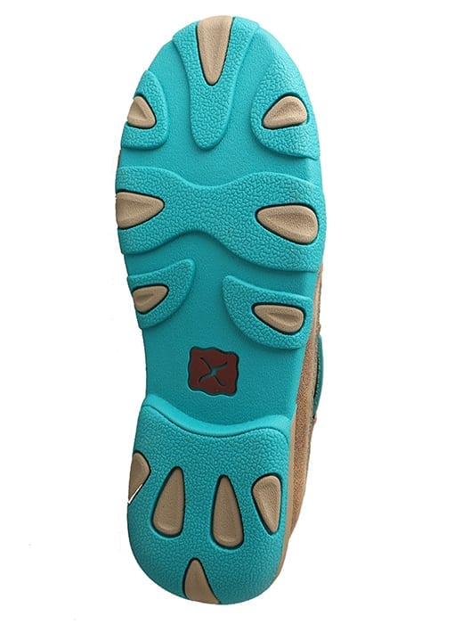 Twisted X Women's Driving Moc Slip On - Bomber-turquoise - WDMS006 - Bottom