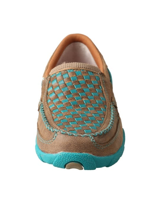 Twisted X Women's Driving Moc Slip On - Bomber-turquoise - WDMS006 - Front