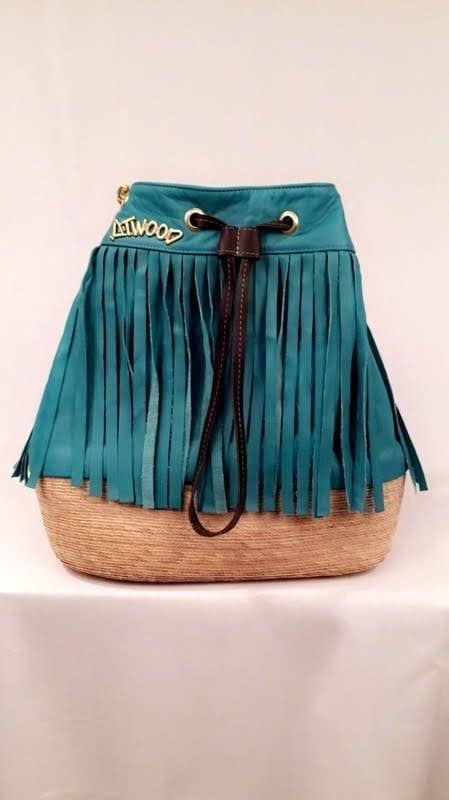 Tara - Aqua - Womens leather Purse - Atewood Purse