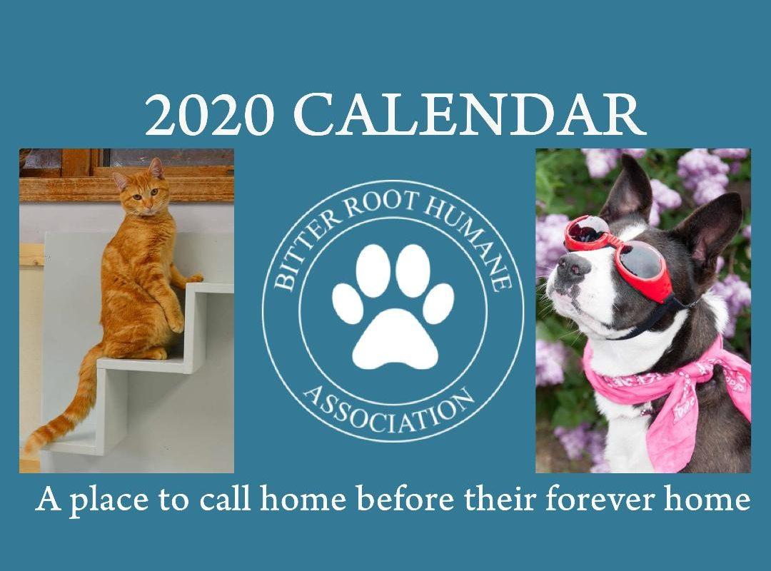 BRHA 2020 Calendar Front