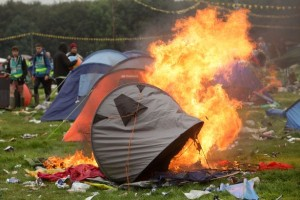 Tent On Fire