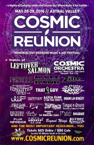 The official flyer for Cosmic Reunion.