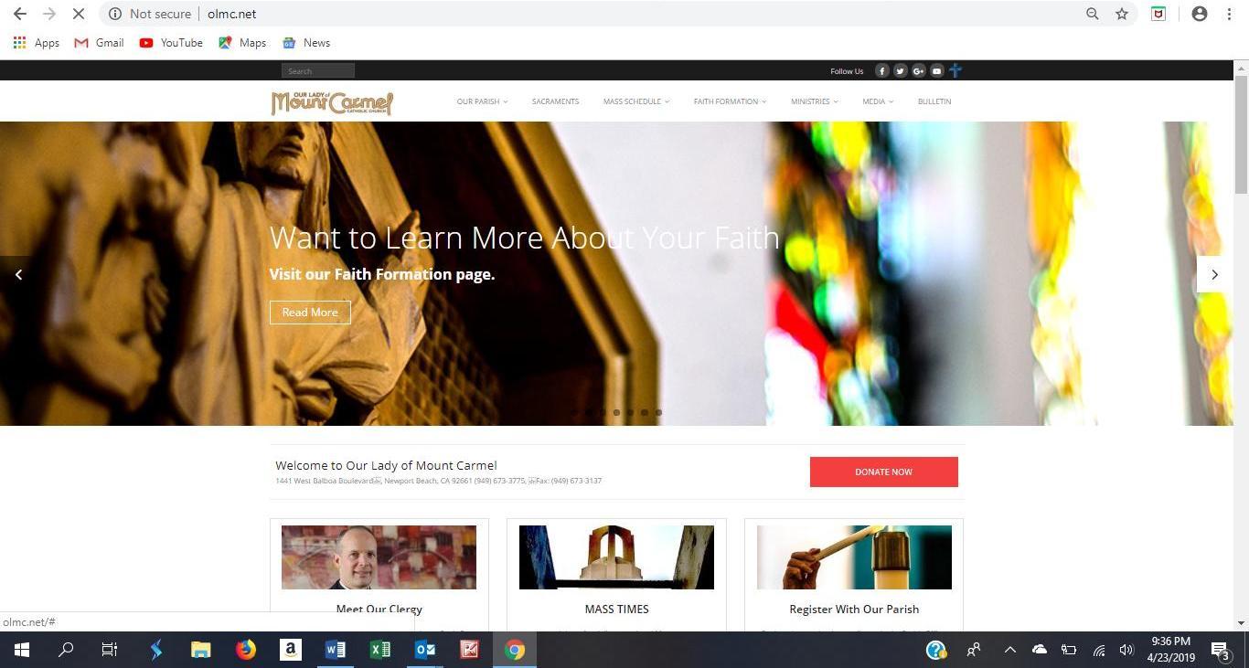 OLMC website 2